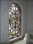 Wrought iron window
